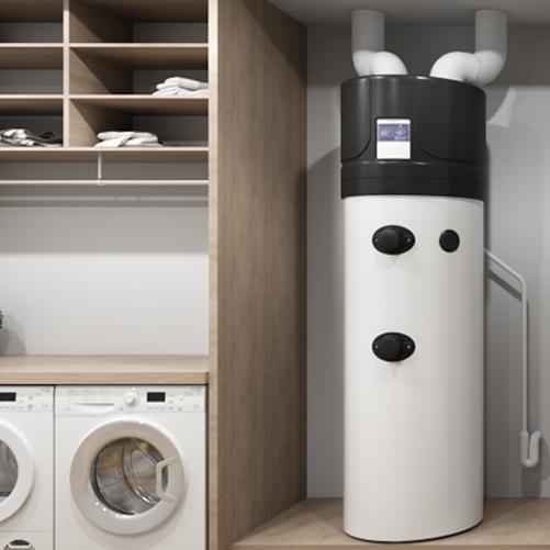 A heat pump powered by air installation