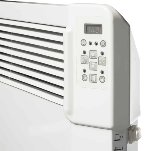 A control panel for electric wall heater